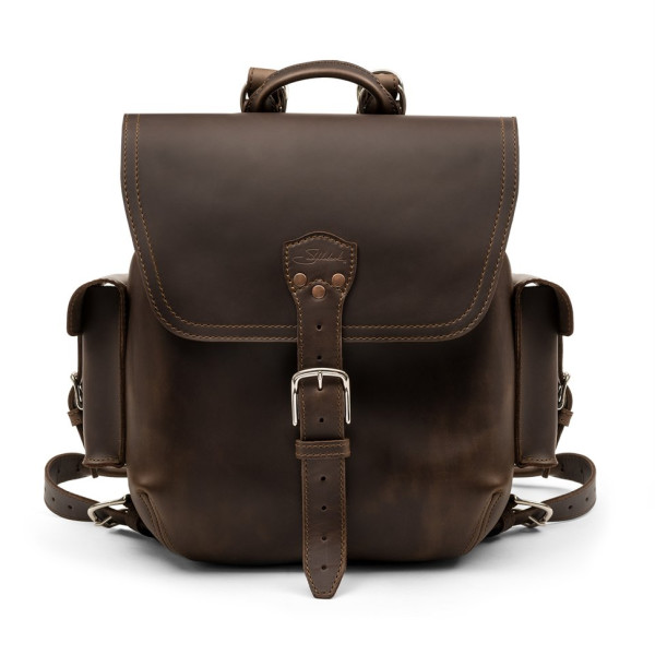 Saddleback Leather Medium, Simple Backpack, Dark Coffee Brown