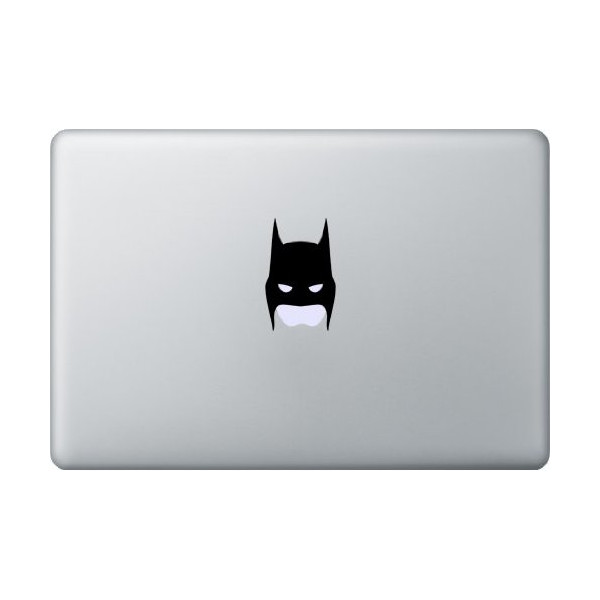 "15"" Black Batman Apple Mask Decal for Macbook, Pro"