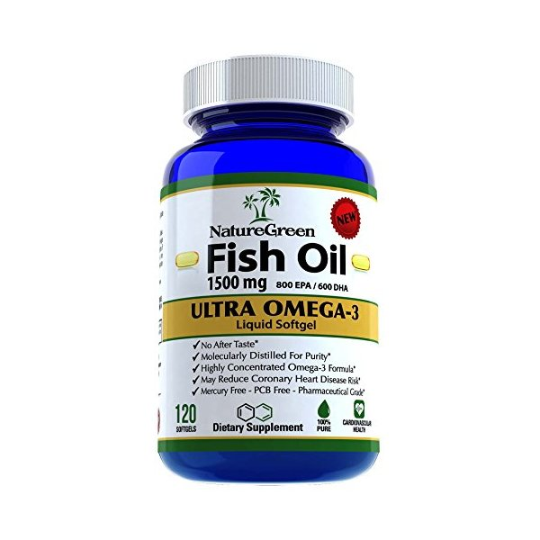 Fish Oil Omega 3 Capsules 1500mg Fish Oil Pills With EPA DHA Vitamin Supplements Benefits-Best Omega-3 Fatty Acids vitamin Softgel Heart Health Nutrition-Dietary Nutritional Supplement-Antioxidants-100% Money Back GUARANTEED!Made in USA(120 Softgels)