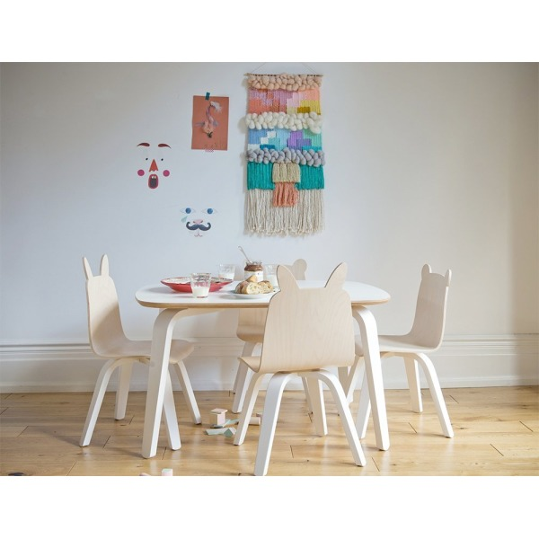 Oeuf Rabbit Play Chairs and Table Set in Birch