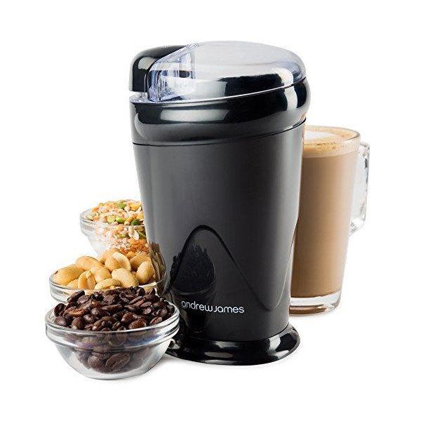 Andrew James Coffee, Nut and Spice Grinder - Powerful 150Watt, Stainless Steel Blades