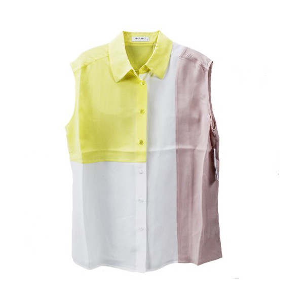 Equipment Women's Diem Clean Bright White Multi Shirt