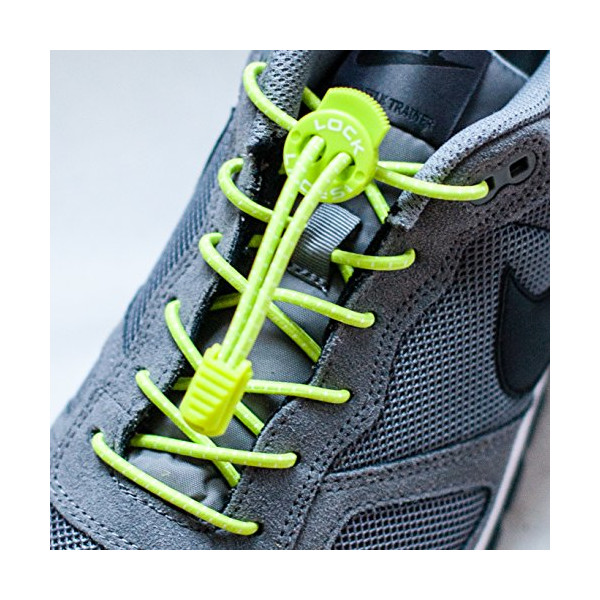 Lock Laces Elastic Shoelace and Fastening System (Green Apple, 48-Inch)