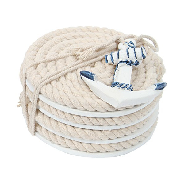 DEI Nautical Rope Coasters, Blue