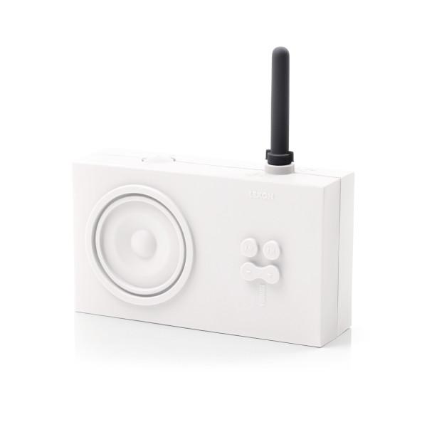 Lexon Tykho Rubber Radio, White