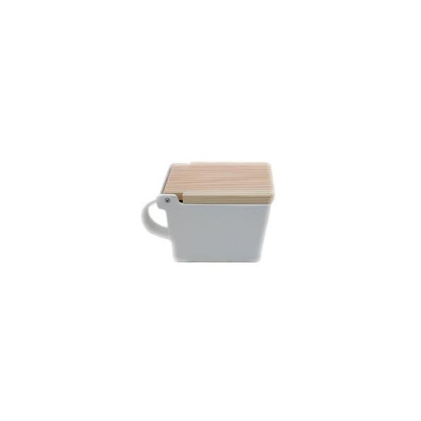 Bee House Salt Box (White)