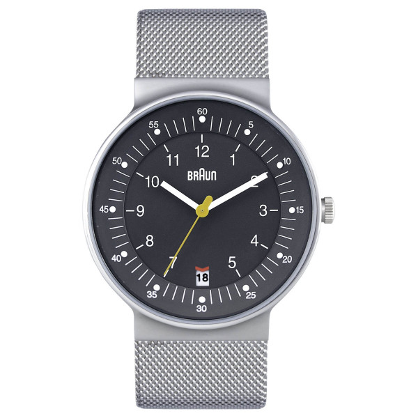 Braun Classic Stainless Steel Watch with Mesh Bracelet