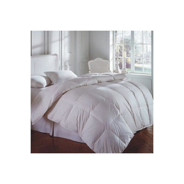 CASCADA 600 White Goose Down Comforter Size: Queen, Warmth: All Year