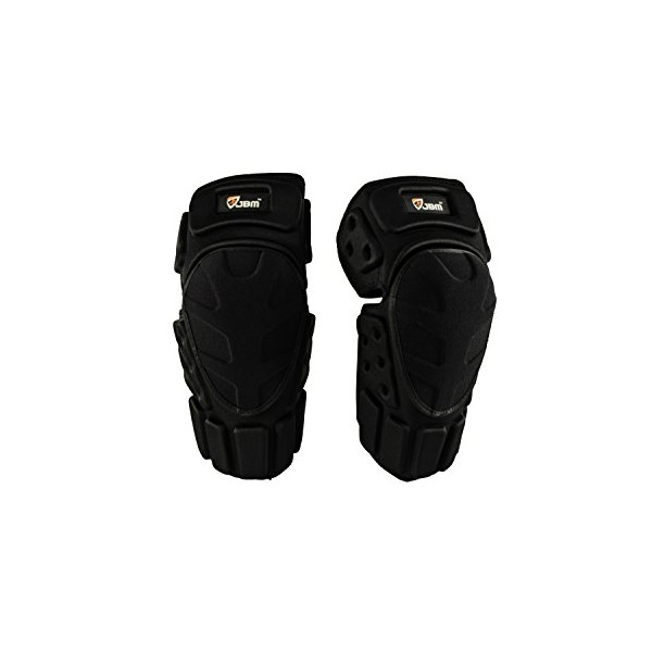JBM Powersports Knee Shin Guards Gear for Motorcycle, Motobike, Dirtbike, Motocross, Mountain Bike, Off Road Bike, Street Bike, Sportbike Riding, [Impact Resistance] (Adult, Black)