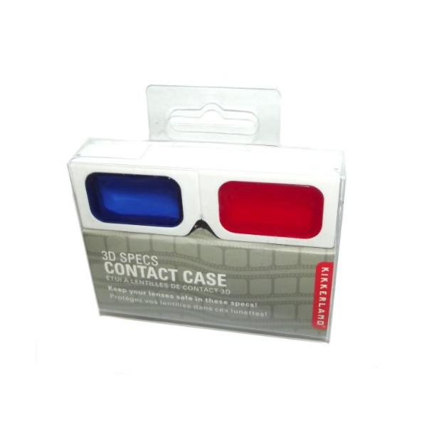 Kikkerland Contact Lens Case, 3D Specs