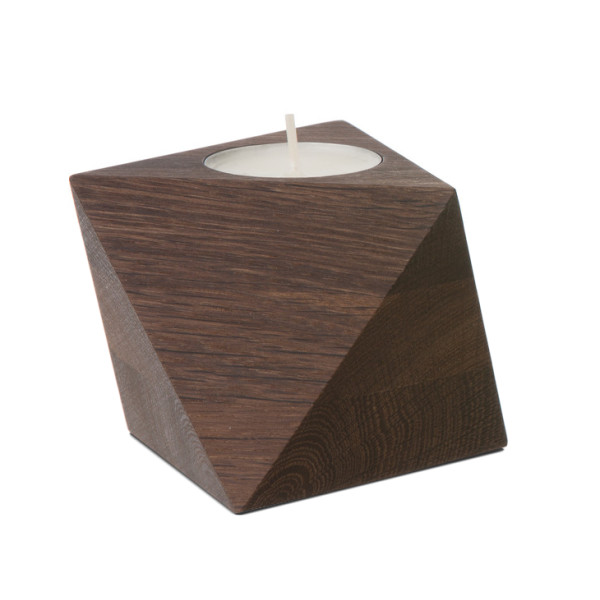 Ferm Living Reversible Candleholder, Smoked Oak