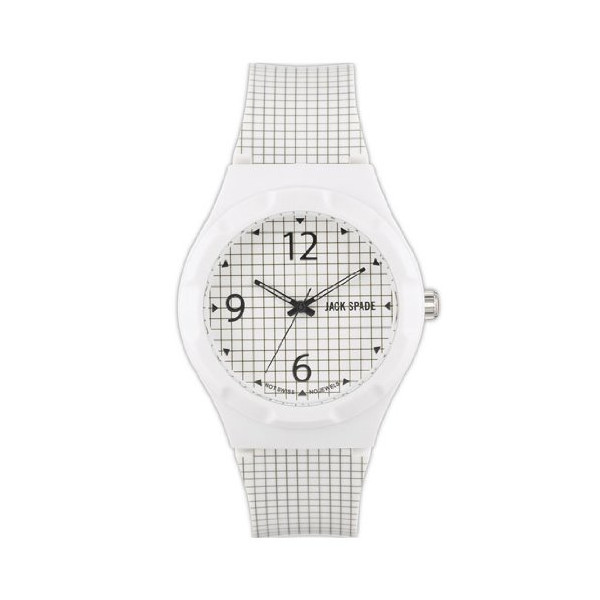 Jack Spade Graphic Analog Display Japanese Quartz White Watch