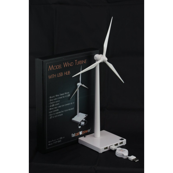 FatCat FCP1065 White USB Desktop Wind Turbine