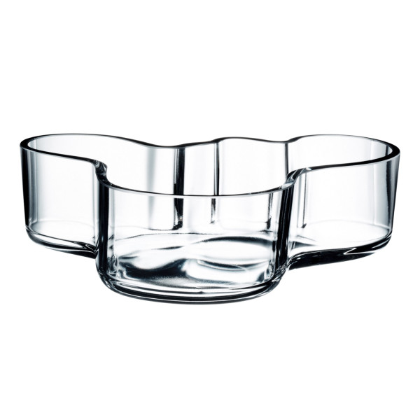 Iittala Alvar Aalto Mini Bowl, Clear, 5-1/2 by 1.2-Inch