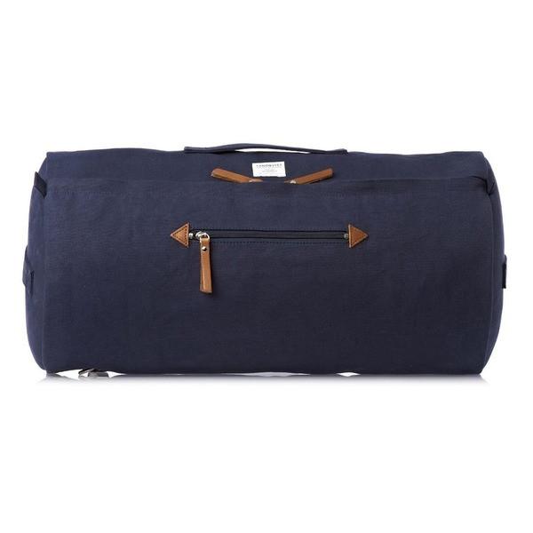 Sandqvist Bertil Cylinder Duffle Bag, Navy Blue