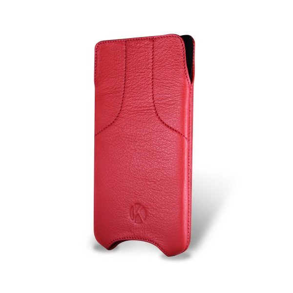 iPhone 6 Case - Kouros Torque - Genuine Italian Leather Case - Pouch Cover (Red)