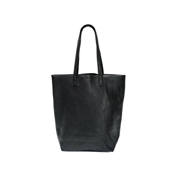 Baggu Black Leather Basic Tote