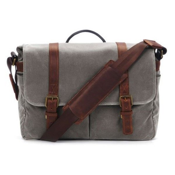 ONA The Brixton Camera and Laptop Messenger Bag, Smoke