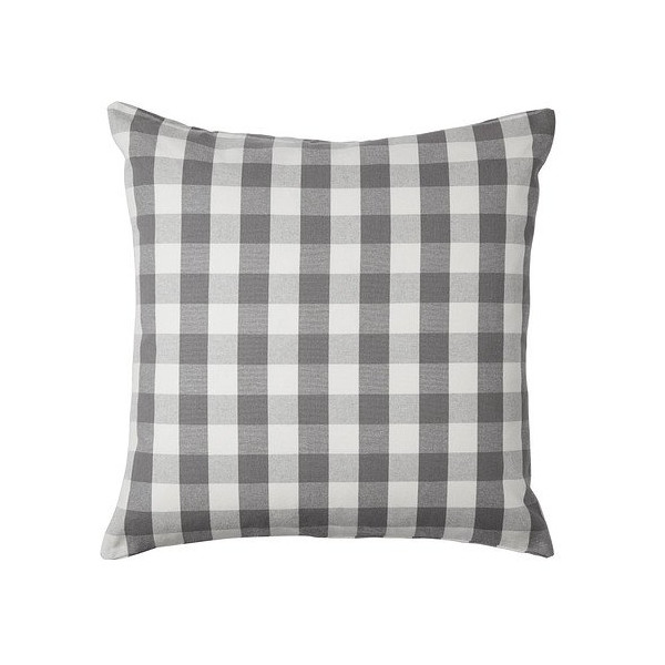 "Ikea Smanate Cushion Cover Grey & White Checkered Design with Zipper 20 X 20"" 100% Cotton"