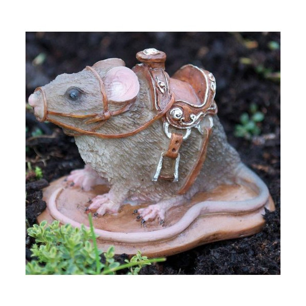 Fiddlehead Fairy Village - Fairy Mouse with Saddle
