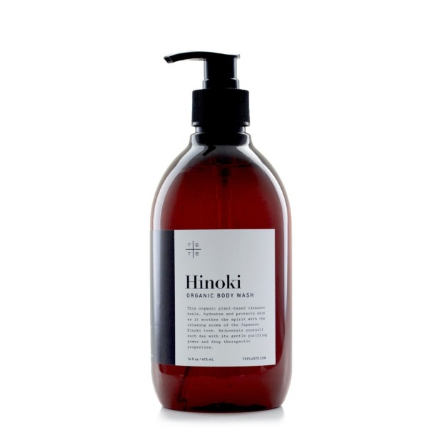 Hinoki Organic Body Wash, 16 oz