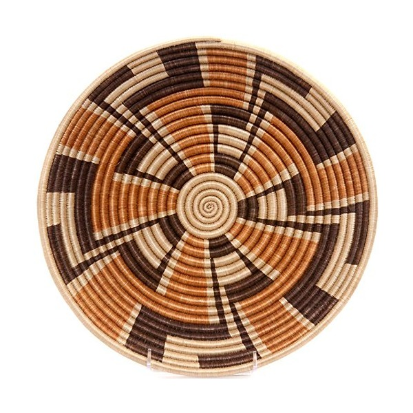 "Fair Trade Rwanda African Sisal Bowl 11-12"" Across, #33838"