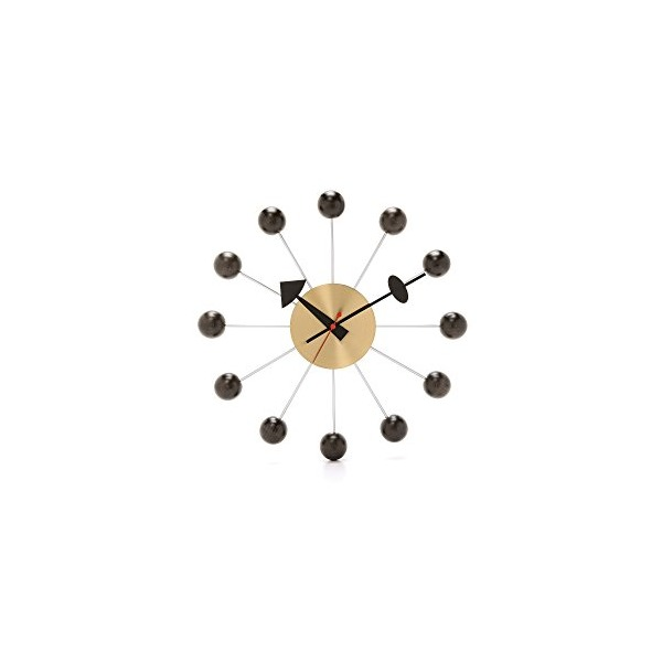 Vitra Ball Clock by George Nelson - Black/Brass