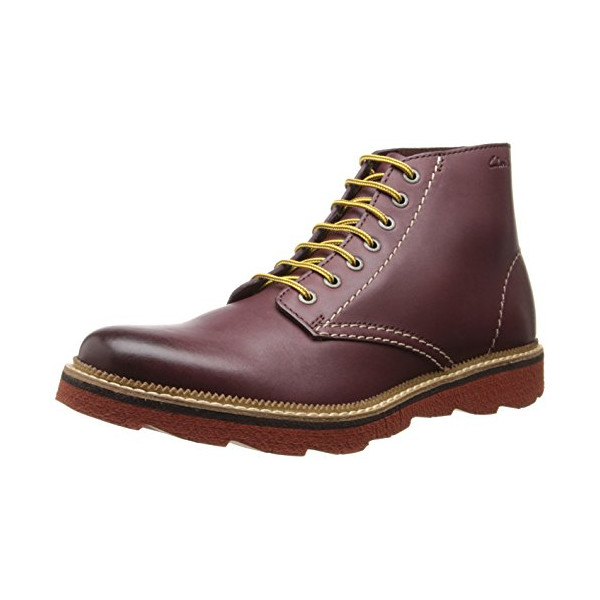 Clarks Men's Frelan Rise Boot,Burgundy,11 M US