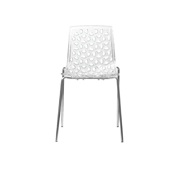 AEON Dakota Translucent Polycarbonate Dining Chair, Clear, Set of 2