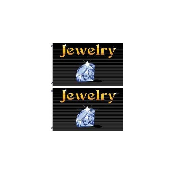 Jewelry Polyester Flag Banner Sign (Pack of 2)