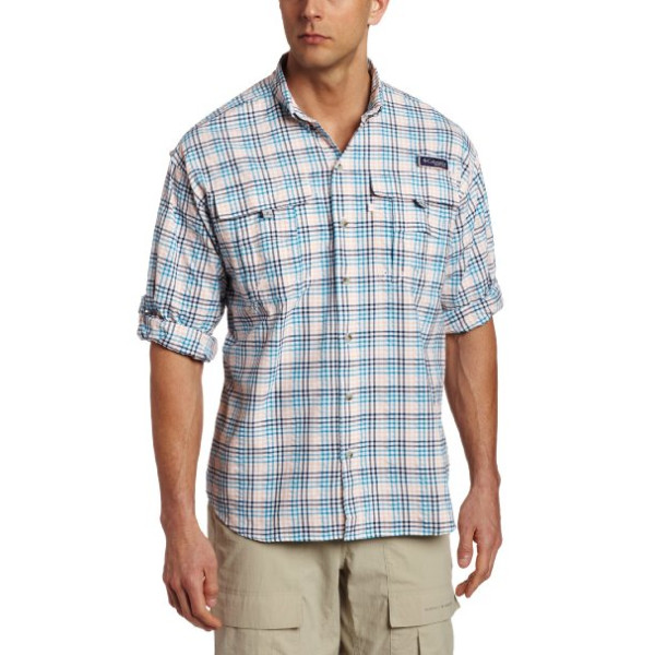 Columbia Sportswear Super Bahama Multi Large Plaid Long Sleeve Shirt