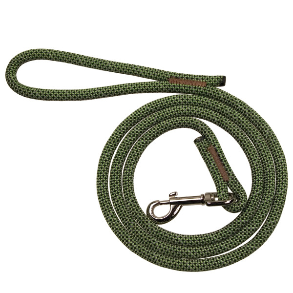 BlueWater K9 Cord Reflective Dog Leash - Green 6ft