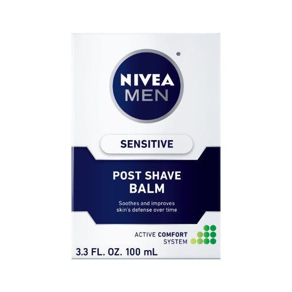 Nivea for Men Sensitive Post Shave Balm, Active Comfort System, 3.3-Ounce Bottles (Pack of 4)