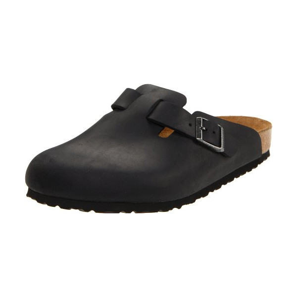 Birkenstock Boston Classic  Arch Clog,Black Oiled Leather,38 M EU