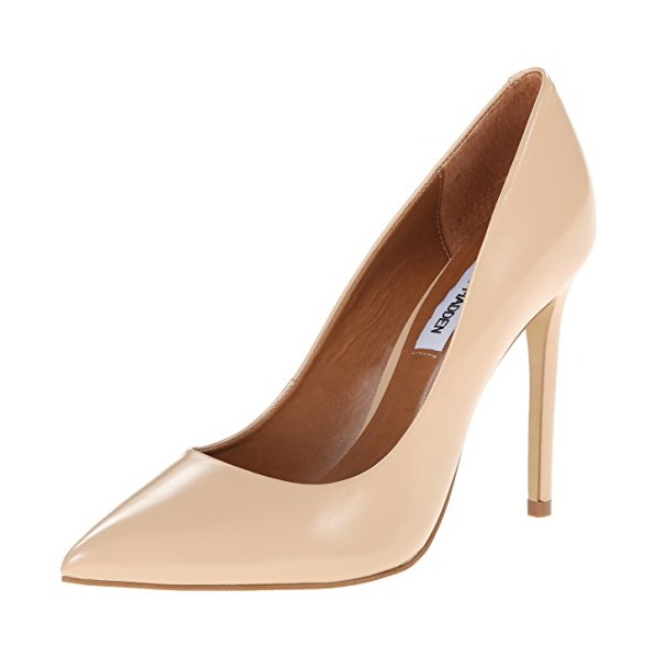 Steve Madden Women's Proto Dress Pump, Blush Leather, 8.5 M US