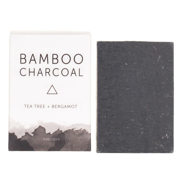 Herbivore Botanicals All Natural Bamboo Charcoal Face/Body Cleansing Soap Bar