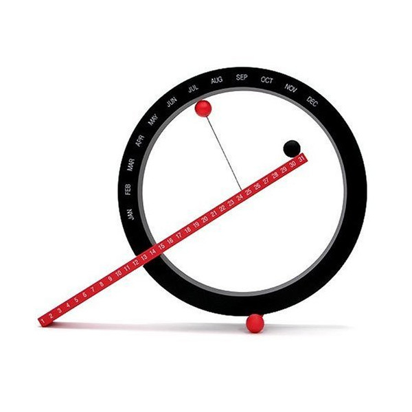 Perpetual Calendar, Red and Black