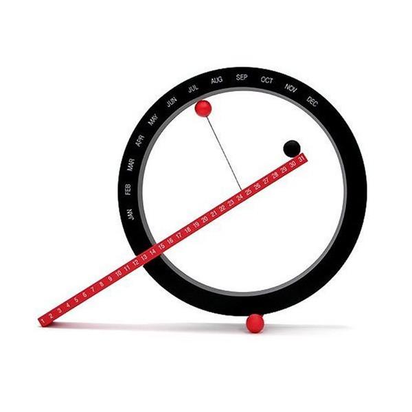 Perpetual Calendar, Red and Black