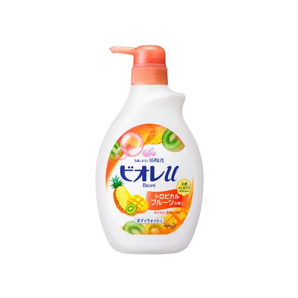 Kao Biore U Body Soap Tropical Fruits Pump - 550ml