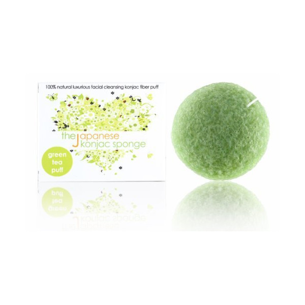 The Japanese Konjac Sponge, Green Tea Puff