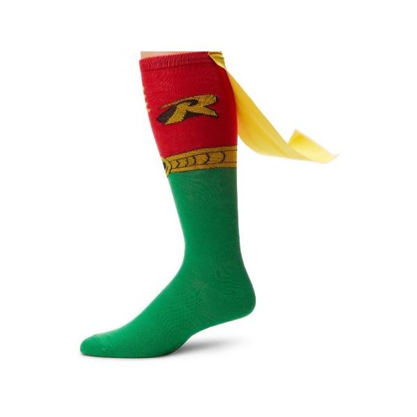 DC Comics Men's Robin Juniors Knee High Cape Sock