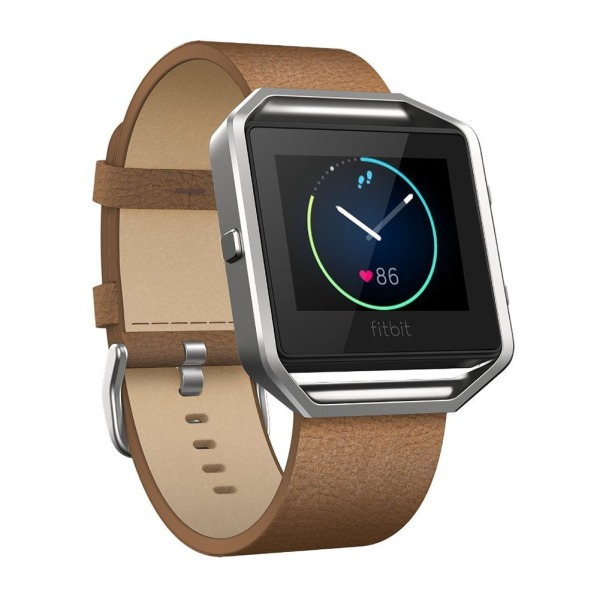 Fitbit Blaze Leather Bands, HamFire Leather Strap Replacement Accessory Band for Fitbit Blaze Smart Fitness Watch (Brown)