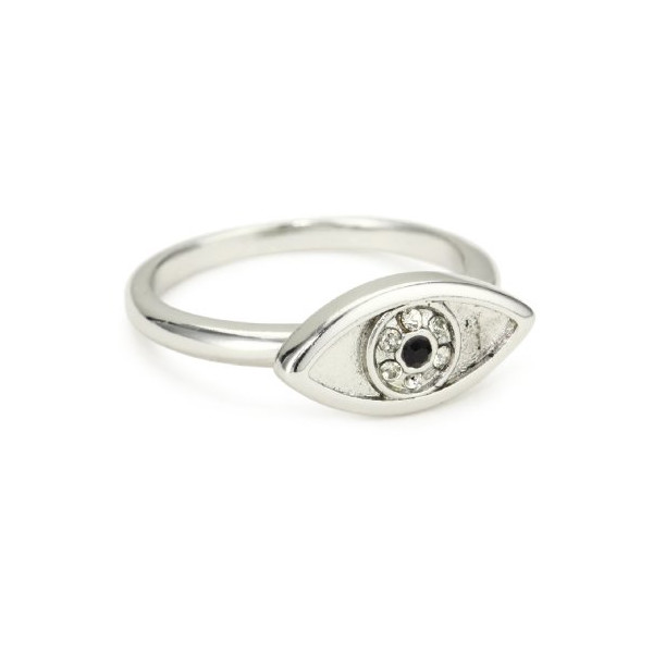 House of Harlow 1960 Sterling Silver-Plated Evil Eye Ring
