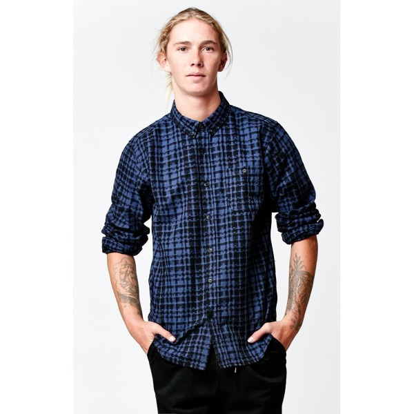 Ezekiel Mens Hinder Long Sleeve Button Up Shirt