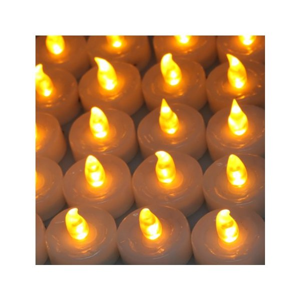 AGPtek® 100 Battery LED Operated Amber Tea Light Candle Flameless