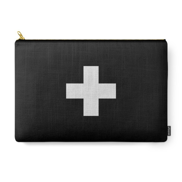 Society6 Swiss Cross Carry-All Pouch, Large