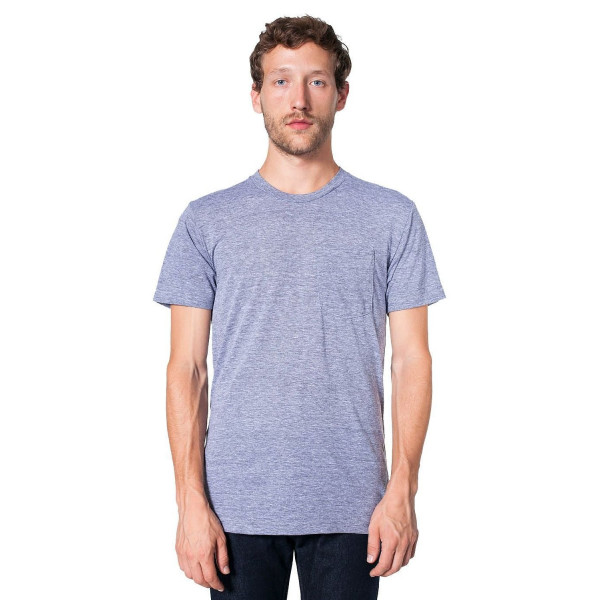 American Apparel Men's Tri-Blend Pocket T-Shirt