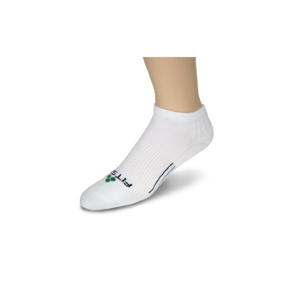 Fitsok CF2 Cushion Low Cut Sock, 3-Pack (White, Large)