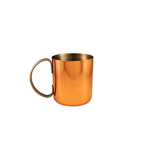 Copper plated stainless steel mug for Moscow Mules