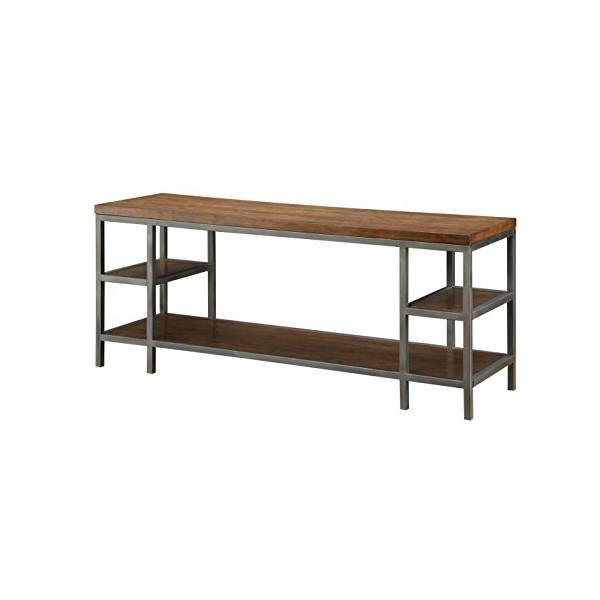 Furniture of America Vallia Industrial TV Console, 60-Inch, Dark Oak